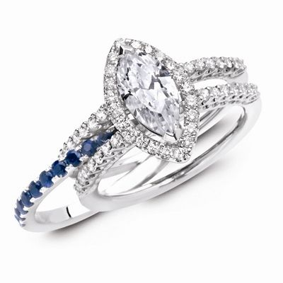 25+ best ideas about Sapphire wedding bands on Pinterest ...