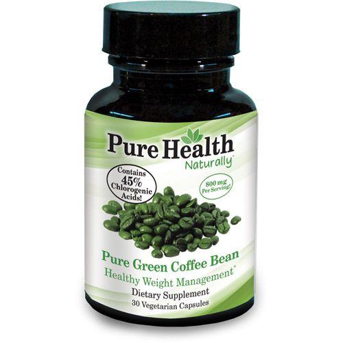 Pure Health Green Coffee Bean 400mg Capsules 30 Count 9