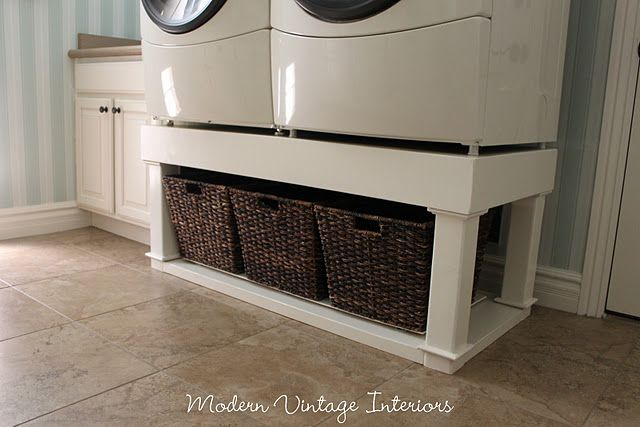 Washer/dryer stand tutorial
