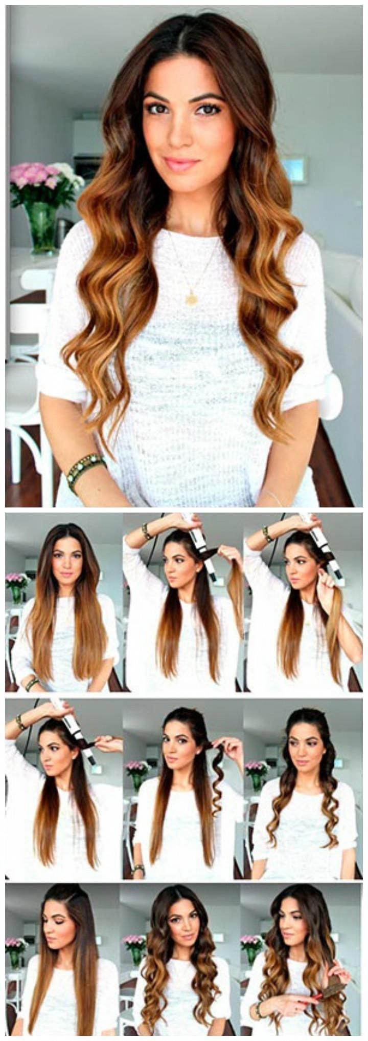 DIY Curly Wavy Hairstyle  25 DIY Hairstyles You Can Do With These Step by Step Tutorials #Diyhairstyles #Easyhairstyles