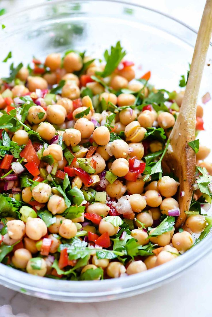 #healthyfood Outrageous Herbacious Mediterranean Chickpea Salad #foodie