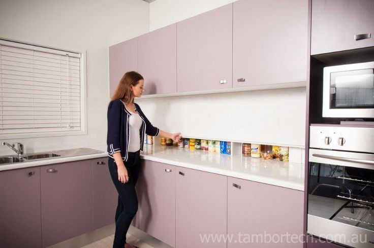 kitchen roller cabinet tambortech door secret splashback pantry cupboard 21986