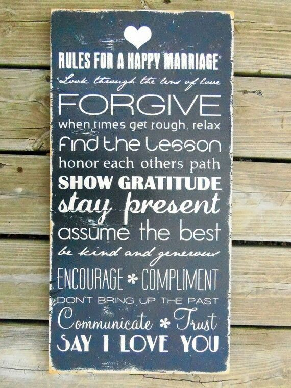 cute!: Wall Art, Woods Signs, Gifts Ideas, Handmade Wedding, Master Bedrooms, Happy Marriage, Marriage Advice, The Rules, Wedding Gifts