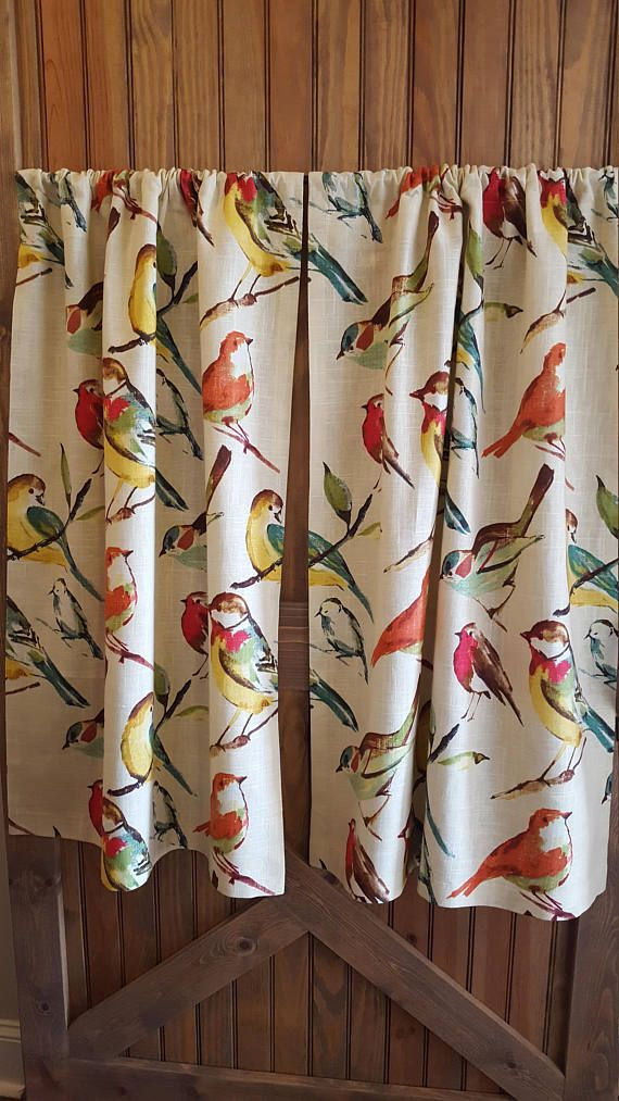 Bird Kitchen Cafe Curtains 2 Panels 1 Pair Custom Sizes And