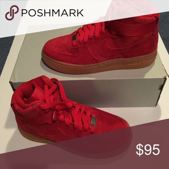New Nike Air Force 1 red suede New Nike Air Force 1 mid red suede Nike Shoes Sneakers