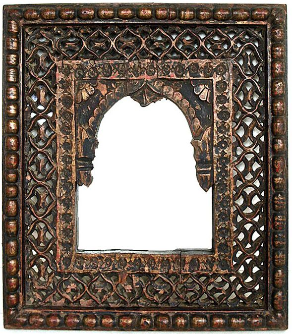 Antique Jali mirror from India. Buy at Bringing It All Back Home. http://bringingitallbackhome.co.uk/shop/antique-jali-indian-wooden-mirror/