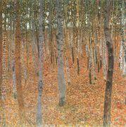 Beech Forest Buchenwald I  by Gustav Klimt