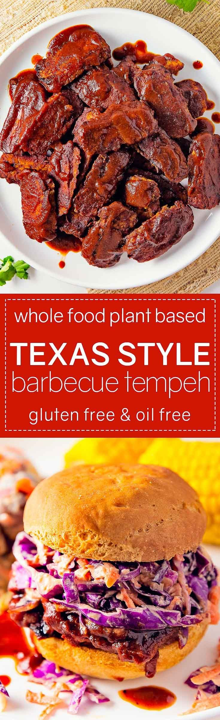 AMAZING and delicious Texas Style Barbecue Tempeh! Super simple and tons of yummy flavor! #vegan #glutenfree #oilfree #tempeh #bbq #barbecue #sandwich #plantbased #refinedsugarfree #healthy #monkeyandmekitchenadventures #recipe