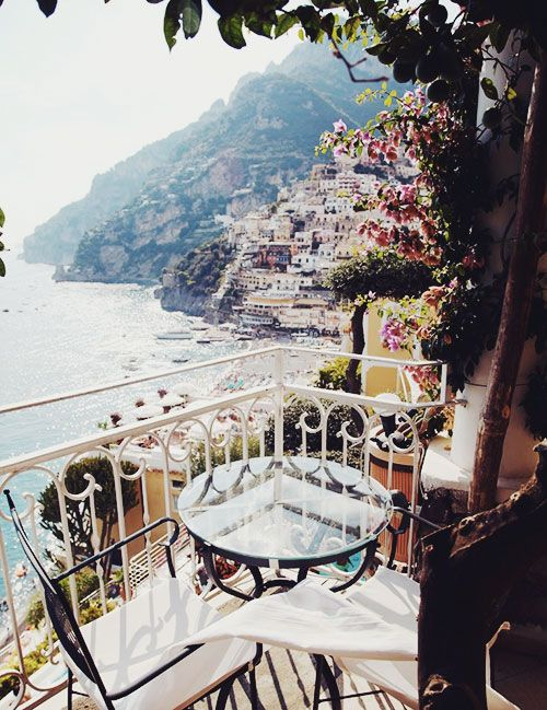 positano, Italy What a nice view and to wake up to a cup of coffee with a light breakfast. Can't hardly wait.