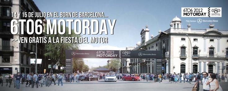 6TO6 MOTORDAY  La Festa del Motor, 14 i 16 de juliol al Born de Barcelona