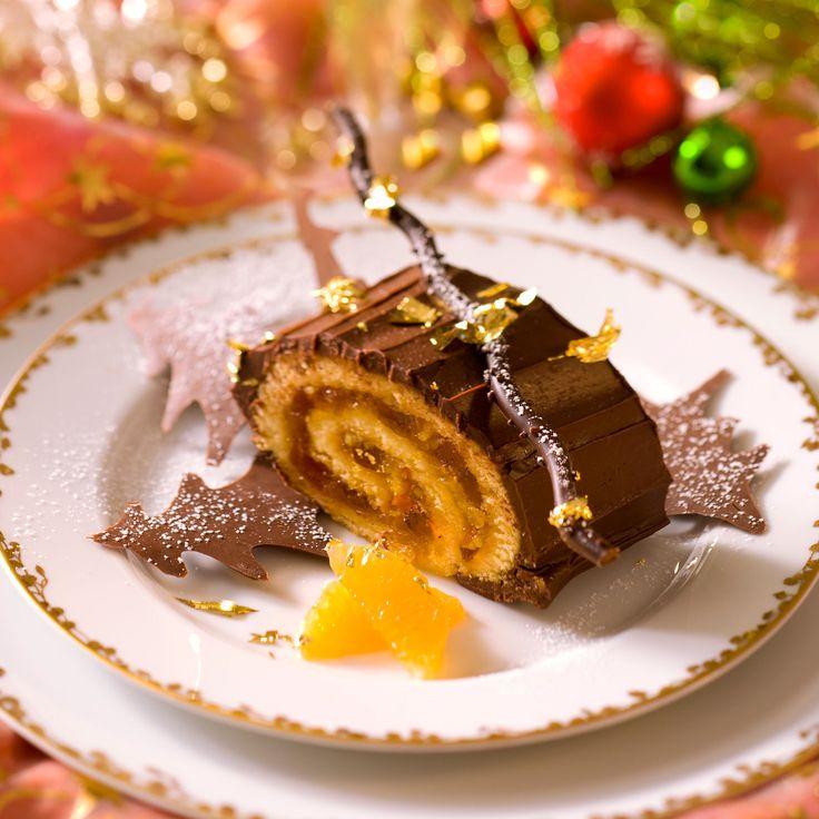 Découvrez la recette de la bûche aux clémentines et au chocolat