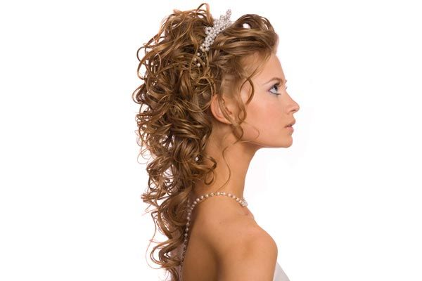 Wedding Half Updos with Bangs | Half Up Half Down Wedding Hairstyles Pictures