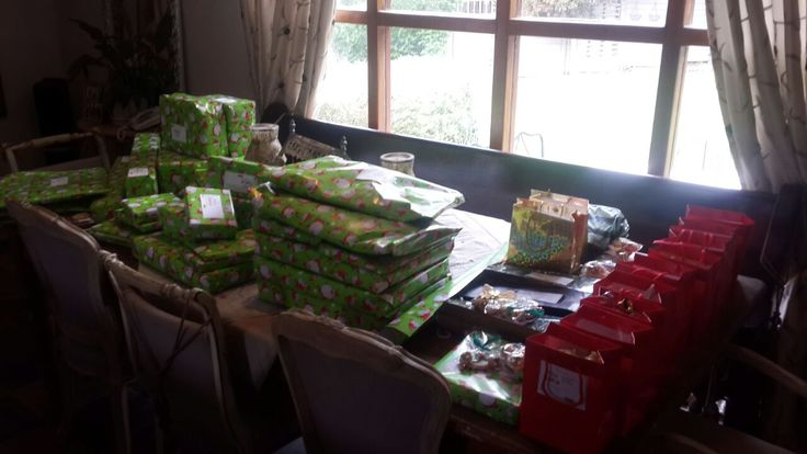 Our gifts were also received:  The Christmas gifts and goodies are already pouring in, and the kids in our Family Homes could not be more excited!  Huge thanks to ABSA, Vishaym, our friends at Mediclinic, and many others who have made sure this holiday season will be a special one at Oasis Haven!