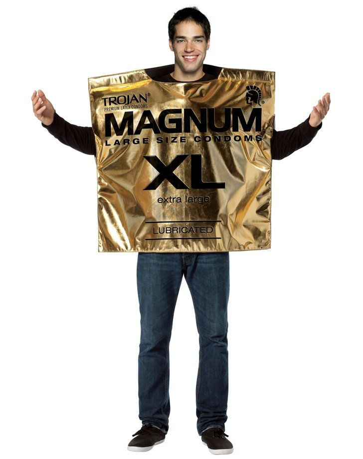 Pin for Later: 50 of the Most Sexually Inappropriate Costumes For Guys Trojan Condom Magnum XL