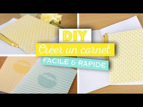 DIY // Accessoires // Fabriquer soi-même ses carnets à petit prix - YouTube