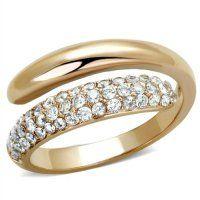 PR8052ZGOC Oceľový prsteň so zirkónmi