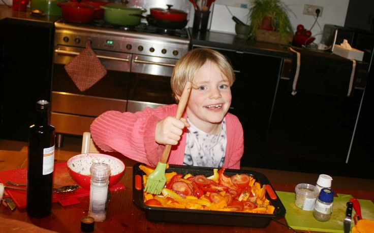 Stokbrood met pompoen, tomaat en paprika gemaakt door Jobke