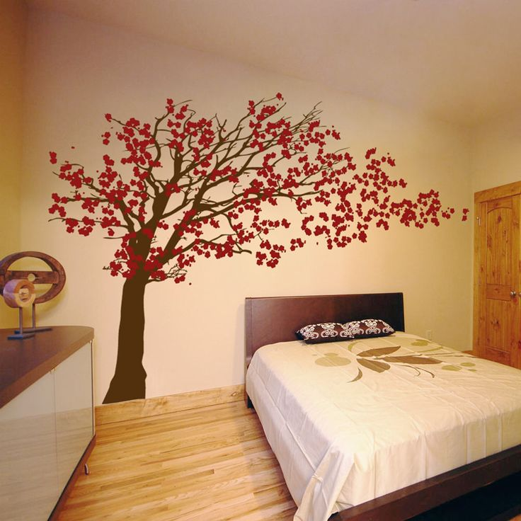 Cherry Blossom Tree - Blowing in the Wind Wall Decal Sticker Graphic  Living room?
