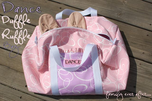 Family Ever After....: Dance Duffle Ruffle Bag + Tutorial - Might have to make this for my granddaughter.