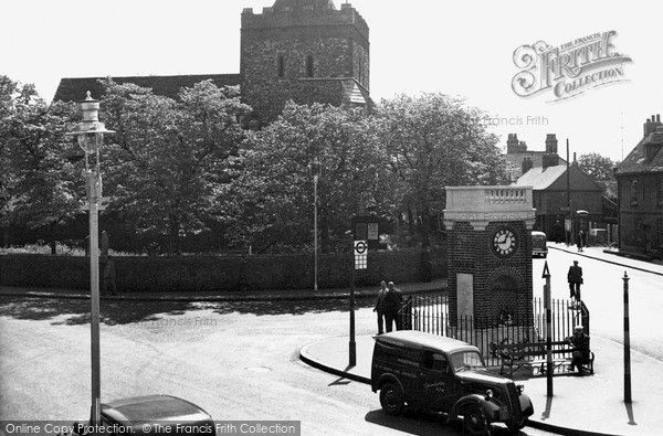 Rainham,The Church And Clock Tower c.1950, from Francis Frith