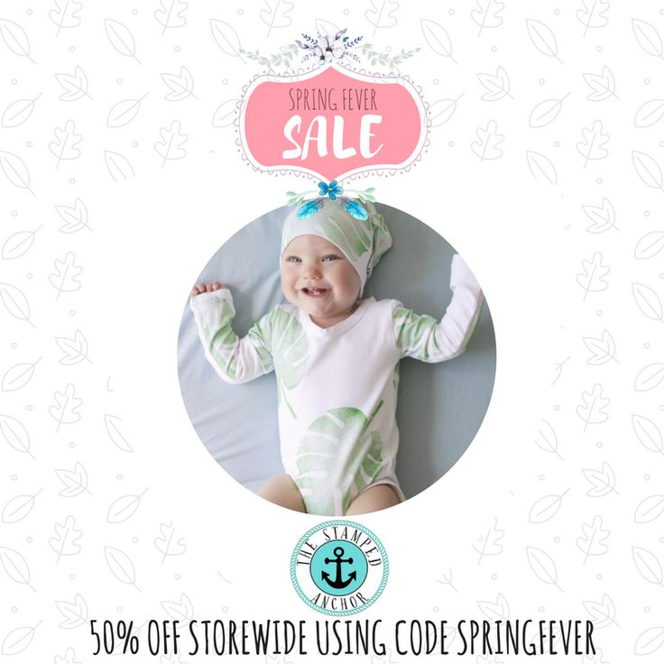 ANDSTAMPED BABY WRAPS, BOWS, BEANIES, MATS, BEDDING + CLOTHING 50% off storewide. Valid until midnight Oct 1 Code: SPRINGFEVER