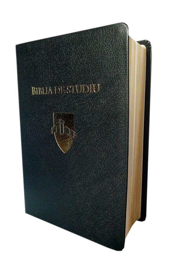 Biblia de studiu Andrews - editia de lux, coperta piele, neagra, margini aurite