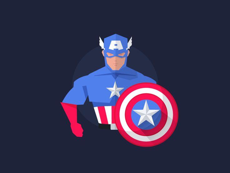 Captain AmericaBuy Artwork: Society6 | RedbubbleFollow me: Dribbble | Twitter | Behance