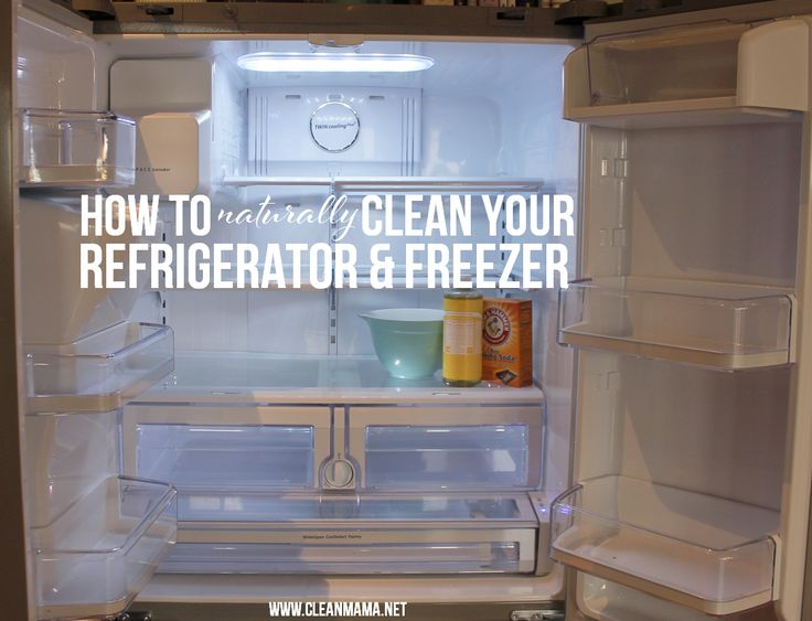How to Naturally Clean Your Refrigerator and Freezer via Clean Mama on ABFOL
