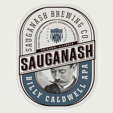 """EXEMPLE: LE CHARME ET L'ILLUSION D'UNE PLUS-VALUE de QUALITÉ AVEC LE """"LOOK VINTAGE"""" Sauganash Brewing Co. Label"""