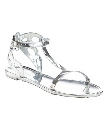 Another great find on #zulily! Silver Strappy Sandal #zulilyfinds