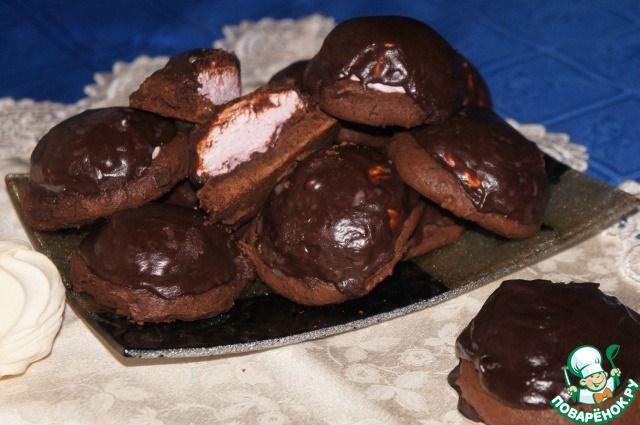 Печенье с зефиром - кулинарный рецепт