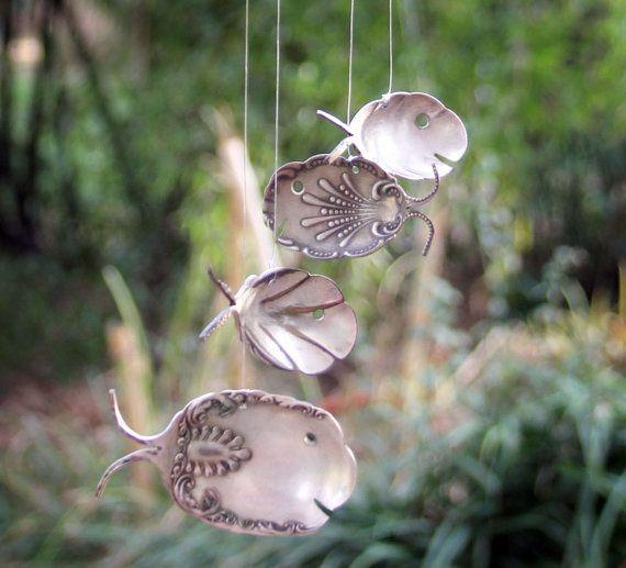 Art Nouveau carillon de vent orner une cuillère de par NevaStarr