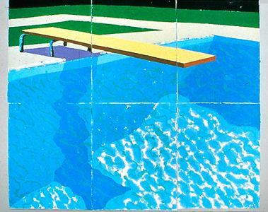 David Hockney, Diving Board with Shadow, 1978