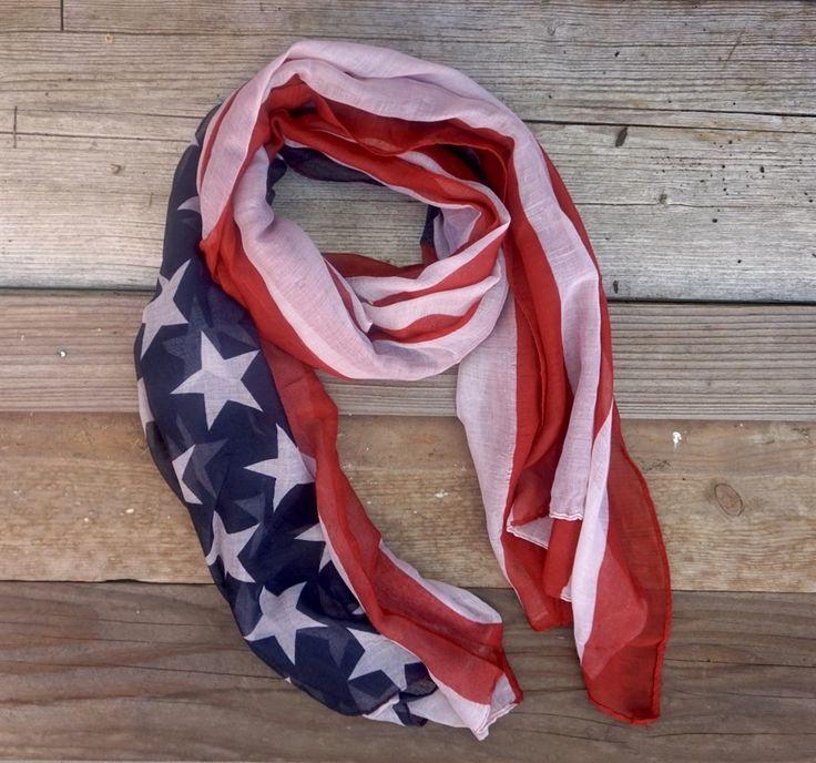 Vintage American Flag Scarf {Jane Deals}