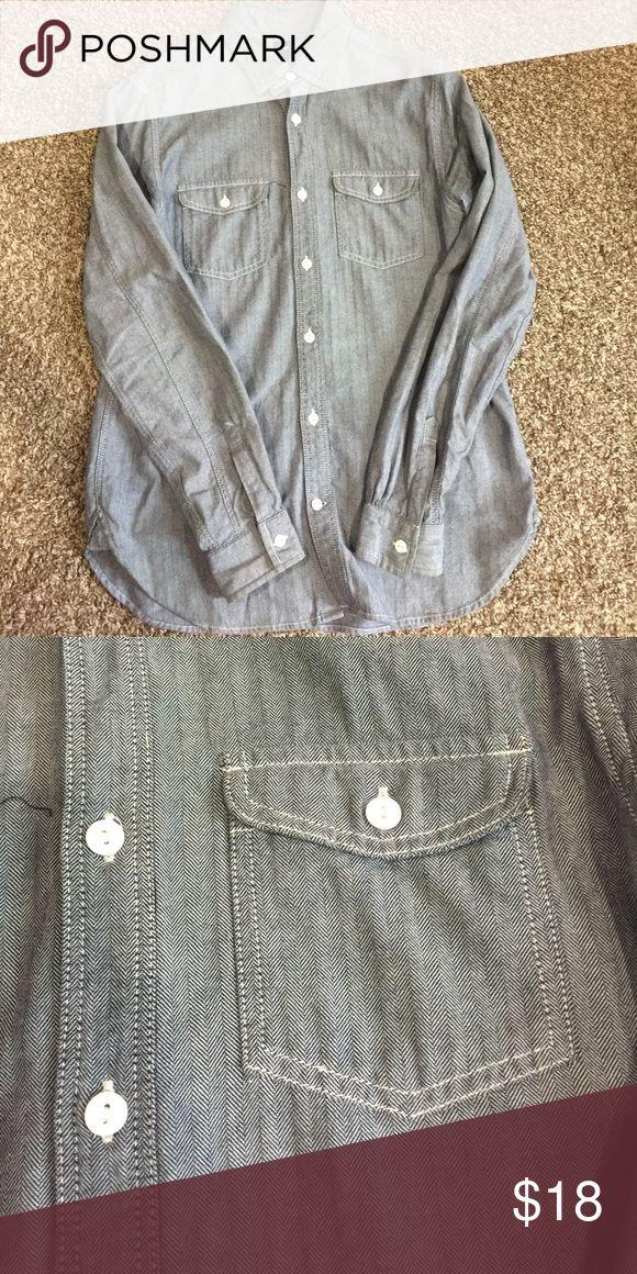Gap Button-down Men's button down. Looks like denim. Could be gender a neutral shirt. GAP Shirts Casual Button Down Shirts