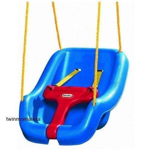 Little Tikes 2 In 1 Snug N Secure Swing Blue For Kids 9