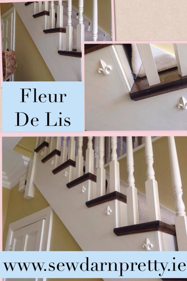Small Moulding BIG impact. Customer uses our Small Foeur De Lis on her staircase.