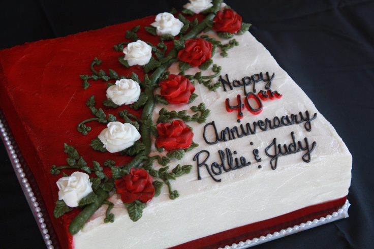 25 best ideas about 40th anniversary cakes on pinterest for 40th anniversary decoration ideas