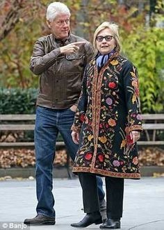 Presidential Candidate Hillary Clinton in NY December 2015 with Former President Bill Clinton - Did you vote for him because he had a penis?????  Will you vote for her simply because she has a vagina?????