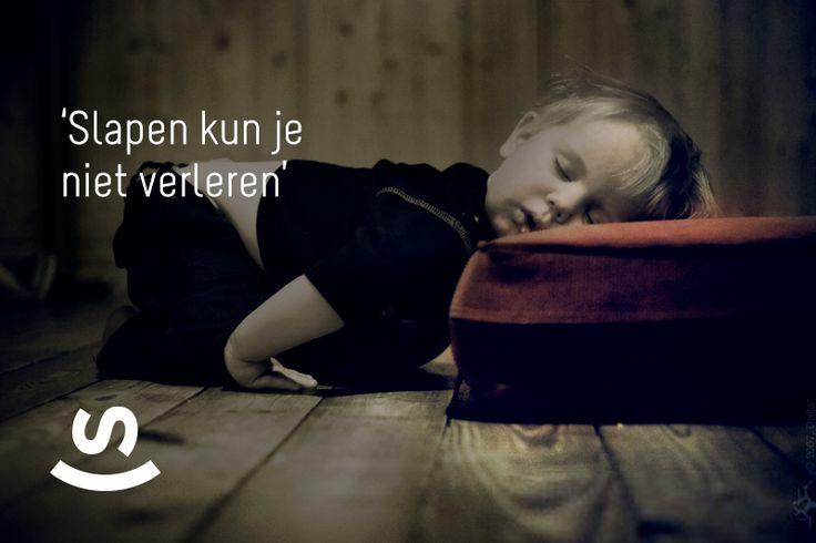 Slapen kun je niet verleren