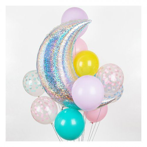 DIVINE printed Pastel Confetti Party Balloons by My Little Day!  Perfect for any little boy or girl's party but also for a birthday, a picnic, a wedding, a baby shower, a christening or a family event!   Little Boo-Teek - My Little Day Party Supplies | Childrens Party Supplies Online | Pastel Confetti Party Balloons