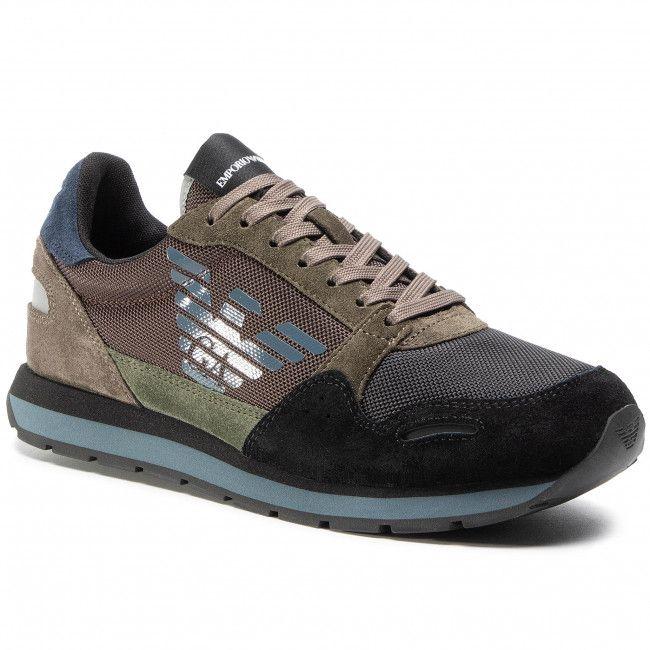 Sneakersy Emporio Armani X4x215 Xl200 N063 Blk Military Bronze Sneakersy Polbuty Meskie Eobuwie Pl Emporio Emporio Armani Armani