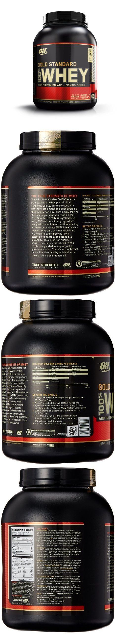 Protein Shakes and Bodybuilding: Optimum Nutrition On 100% Whey Protein Gold Standard 5 Lbs **Choose Your Flavor* -> BUY IT NOW ONLY: $56.84 on eBay!