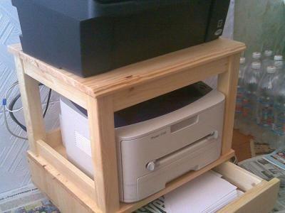 Подставка-тумба для сканера и принтера с ящиком для бумаги