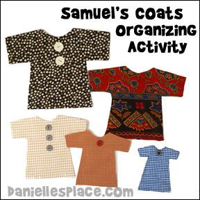 Organize Coats - Samuel Bible Lesson Activity for Sunday School from www.daniellesplace.com