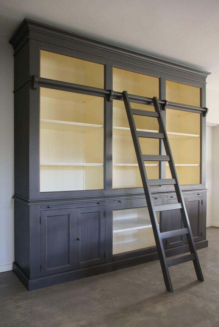 Bibliotheekkast met Ladder - Inndoors Meubelen en Interieur