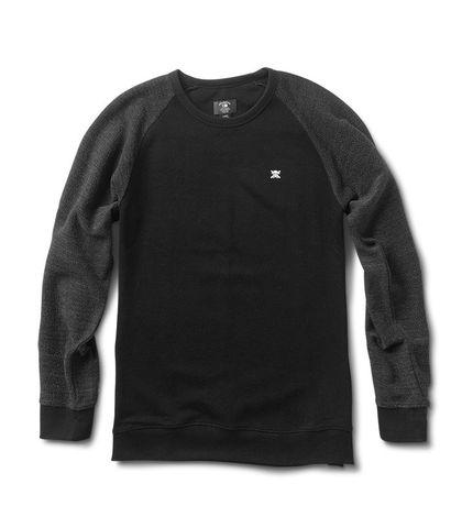 Fourstar Crew Neck Sweater Mini Flock Black