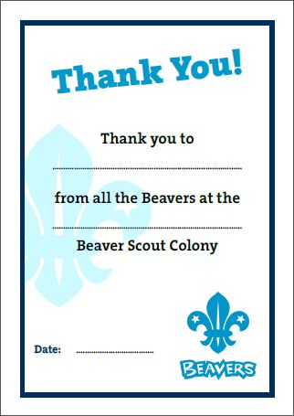 Thank You | Beaver Scouts... Certificates | Pinterest ...