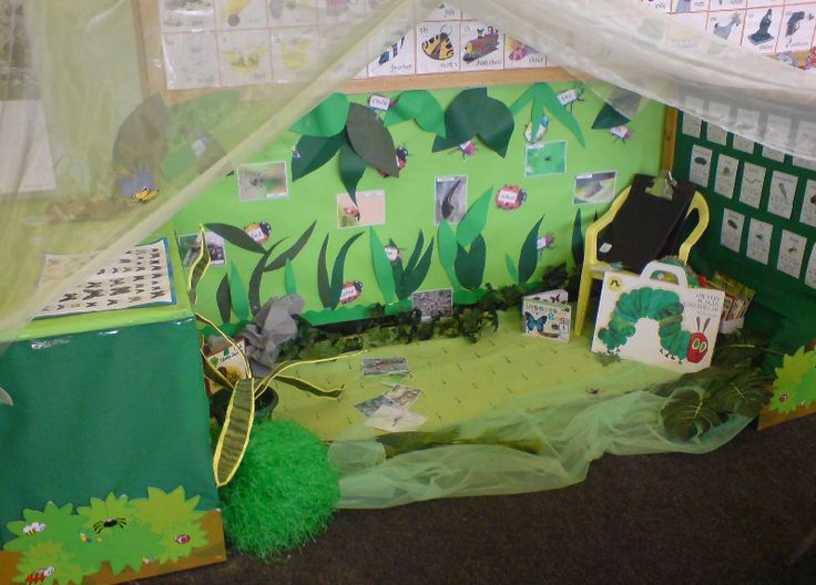Minibeast role-play area classroom display photo - Photo gallery - SparkleBox