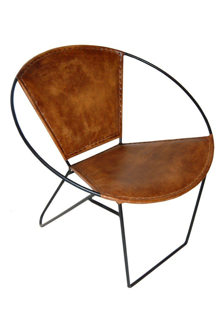 Varberg stol - Metall/läder - 2495 kr - Trendrum.se